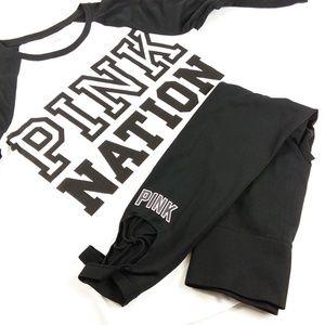 PINK Victoria's Secret Leggings and Shirt Set - M